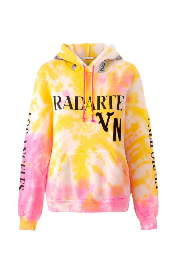 Radarte x Virgil Normal Tie Dye Logo Hoodie