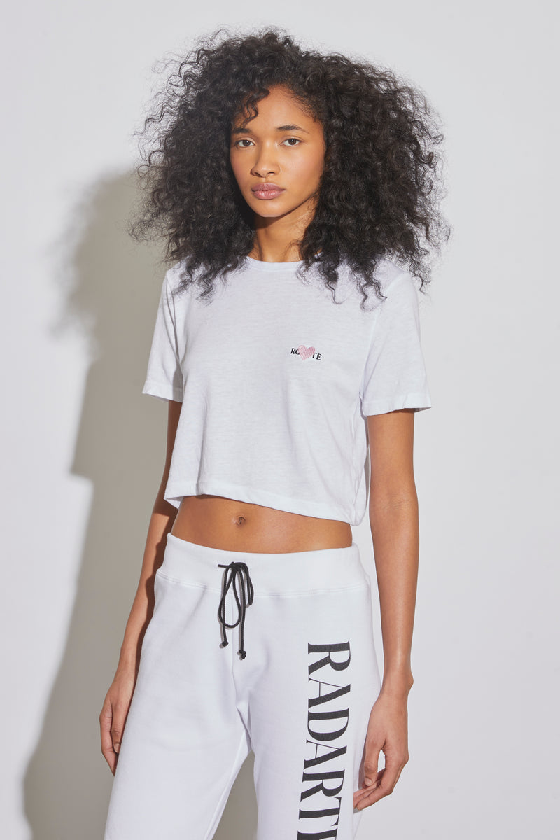 Rohearte Embroidery Cropped T-Shirt