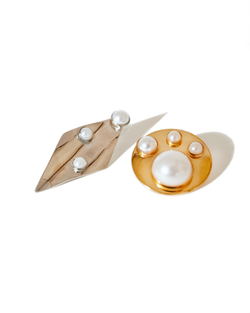Pearl Abstract Shape Earrings