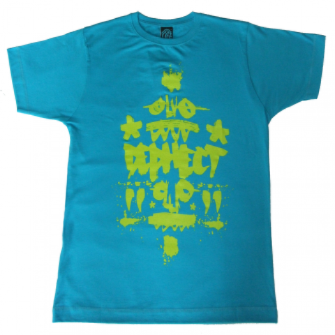 Dephect 'Brush' T-Shirt - Bright Blue