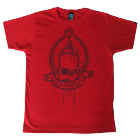Dephect 'Can Skull' T-Shirt - Red