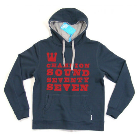 Seventy Seven 'Champion Sounds' Hooded Sweat - Navy