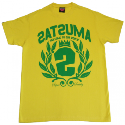 Satsuma 'Crest Two' T-Shirt - Yellow