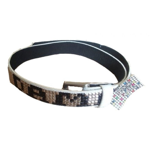 Criminal Damage Belt - White & Silver