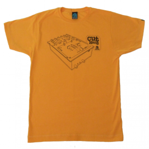 Dephect 'Cut Here' T-Shirt - Gold