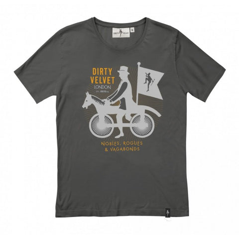 Dirty Velvet 'Noble Rogues' T-Shirt - Organic Charcoal