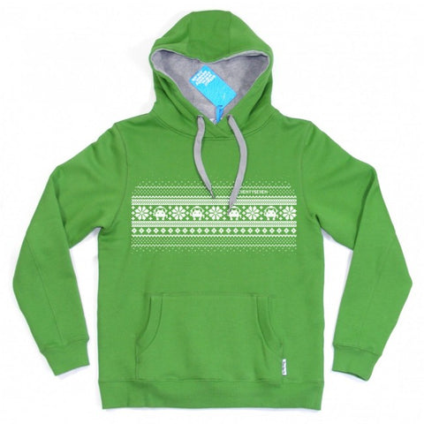 Seventy Seven 'Fair Isle' Hooded Sweat -  Green