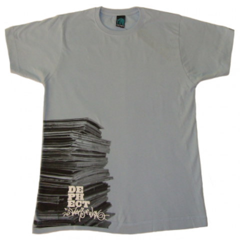 Dephect 'Vinyl Stack' T-Shirt - Light Blue