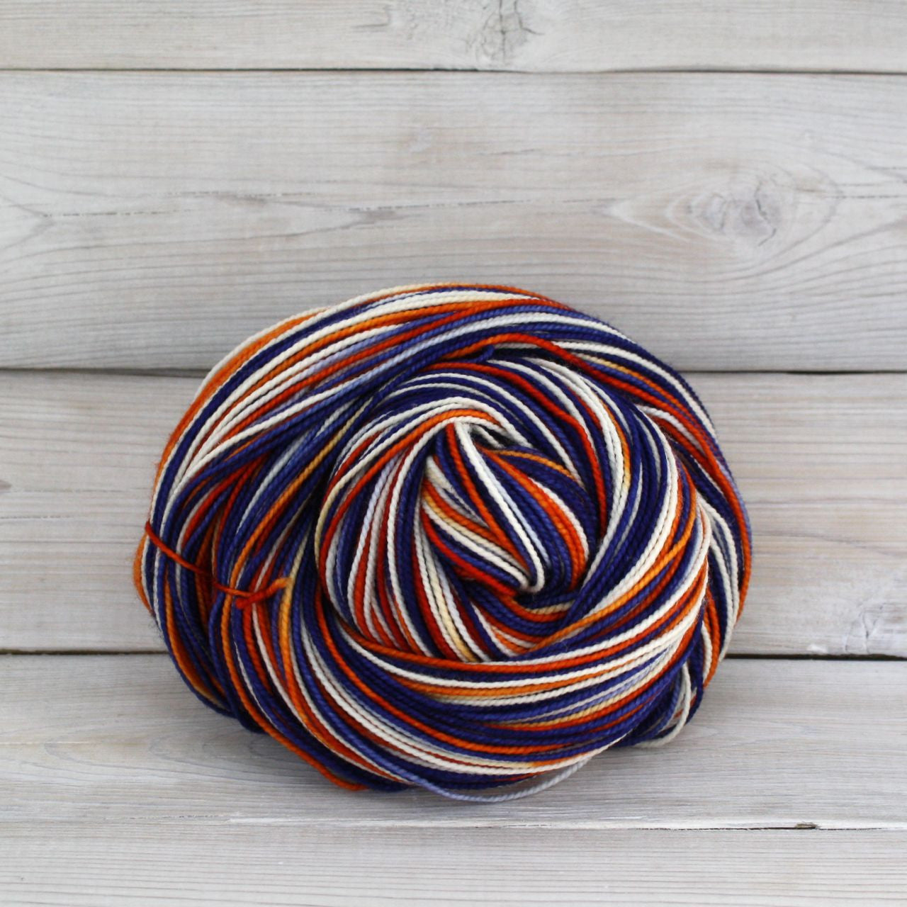 Luna Grey Fiber Arts Celeste Yarn | Colorway: Broncos