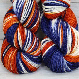 Luna Grey Fiber Arts Supernova Yarn | Colorway: Broncos