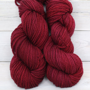 Luna Grey Fiber Arts Apollo Yarn | Colorway: Cranberry