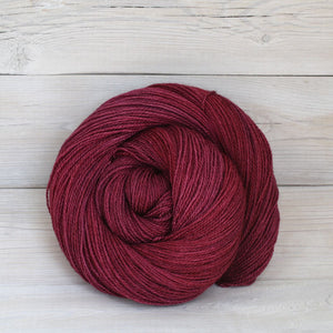 Luna Grey Fiber Arts Starbright Lace Yarn in Cranberry