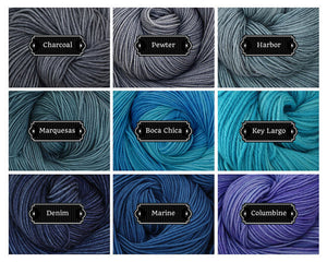 Luna Grey Fiber Arts Color Card 1
