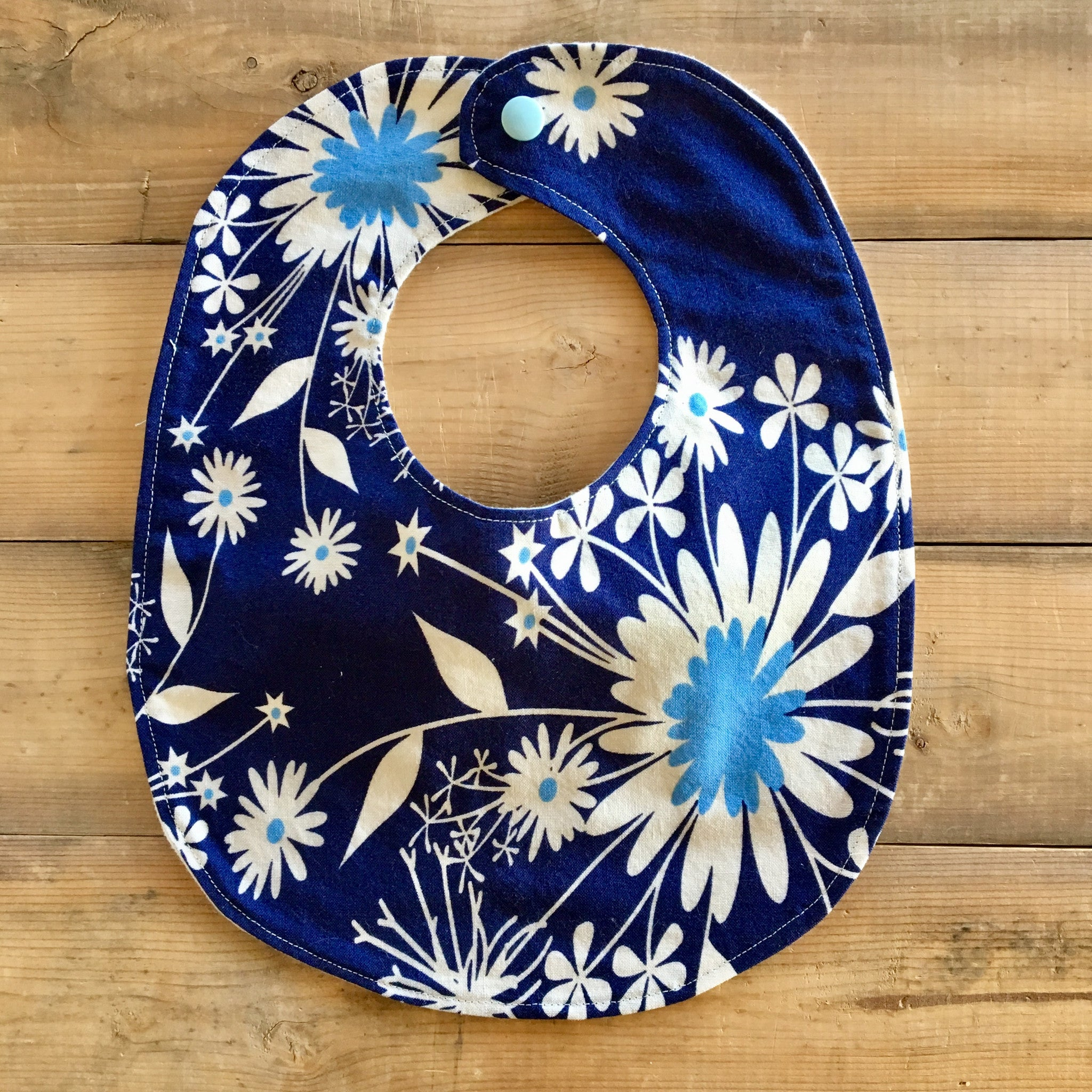 Baby / Toddler Bib | Fabric: Navy Floral
