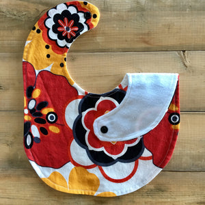 Baby / Toddler Bib | Fabric: Red Floral