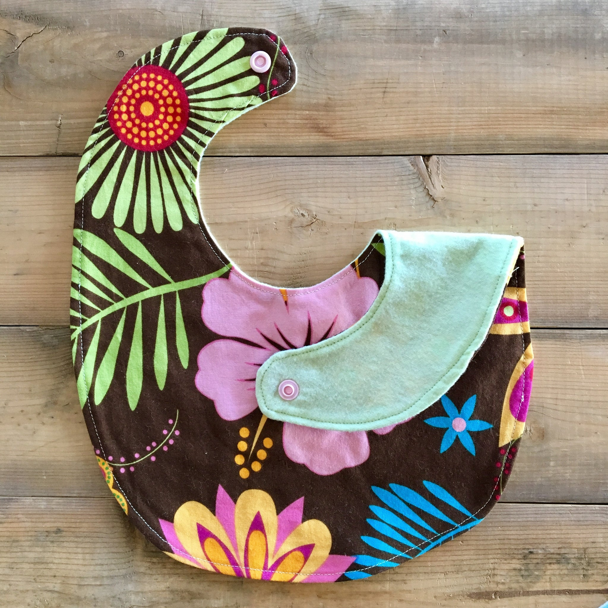 Baby / Toddler Bib | Fabric: Hawaiian Floral