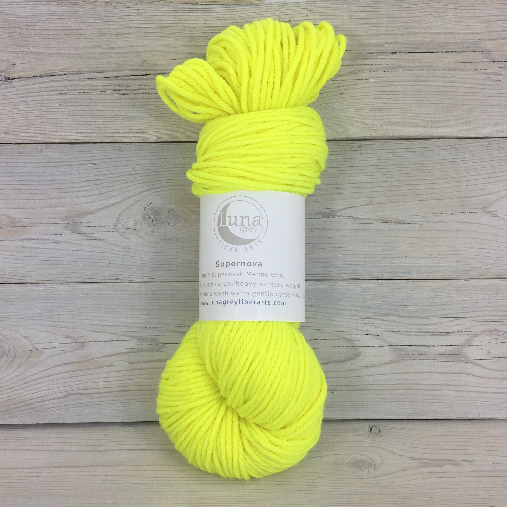 Supernova Yarn | Colorway: Neon Yellow