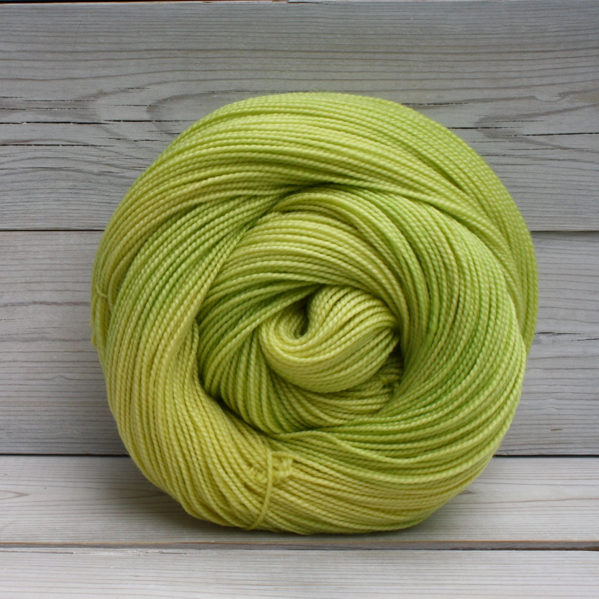 Luna Grey Fiber Arts Celeste Yarn | Colorway: Lemon Lime