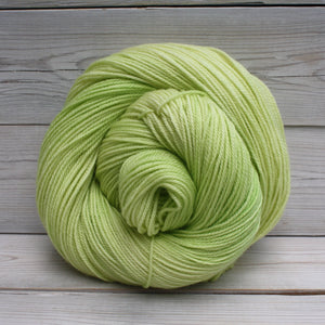 Luna Grey Fiber Arts Orion Yarn | Colorway: Lemon Lime
