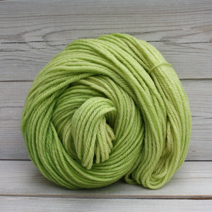 Luna Grey Fiber Arts Supernova Yarn | Colorway: Lemon Lime