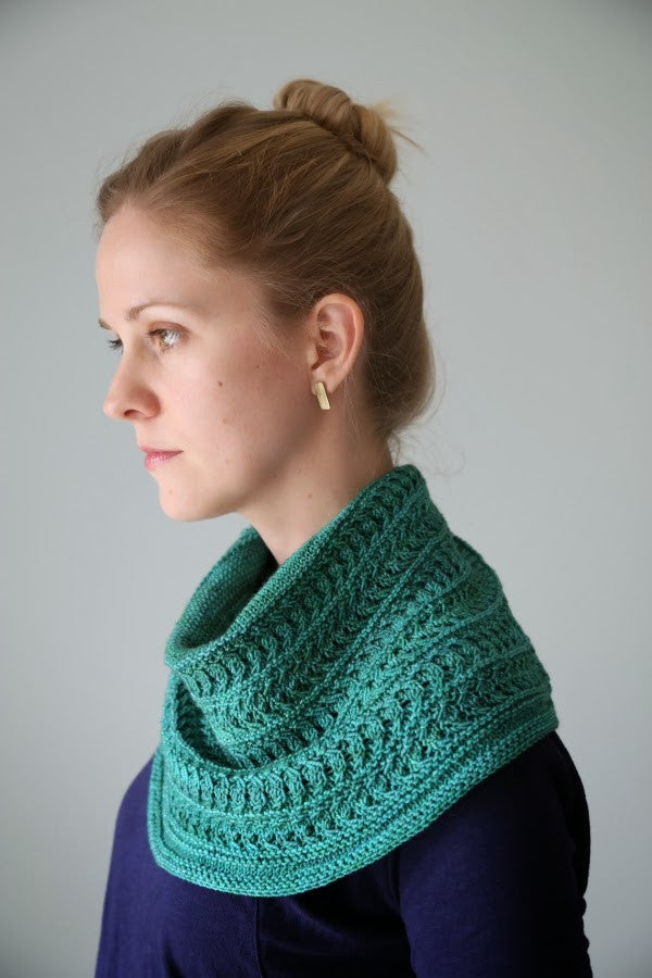 Luna Viridis Cowl Kit - Contains PDF Pattern File and One Skein of Celeste Yarn in Colorway of Choice