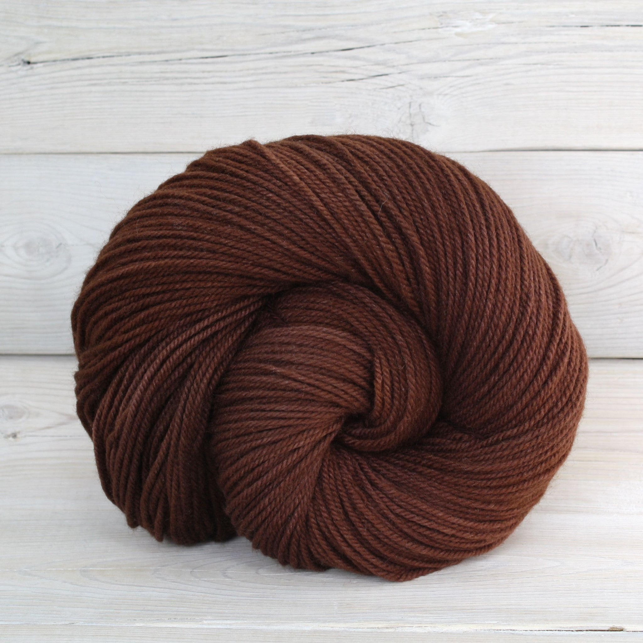 Luna Grey Fiber Arts Zeta Yarn | Colorway: Rootbeer