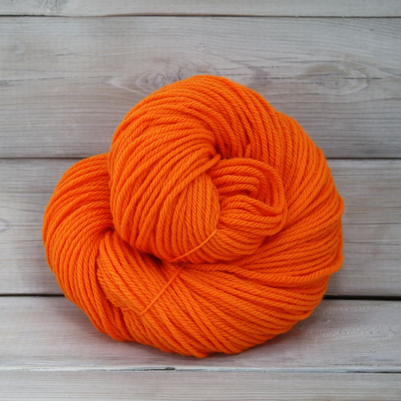 Luna Grey Fiber Arts | Supernova Yarn | Colorway: Safety Orange