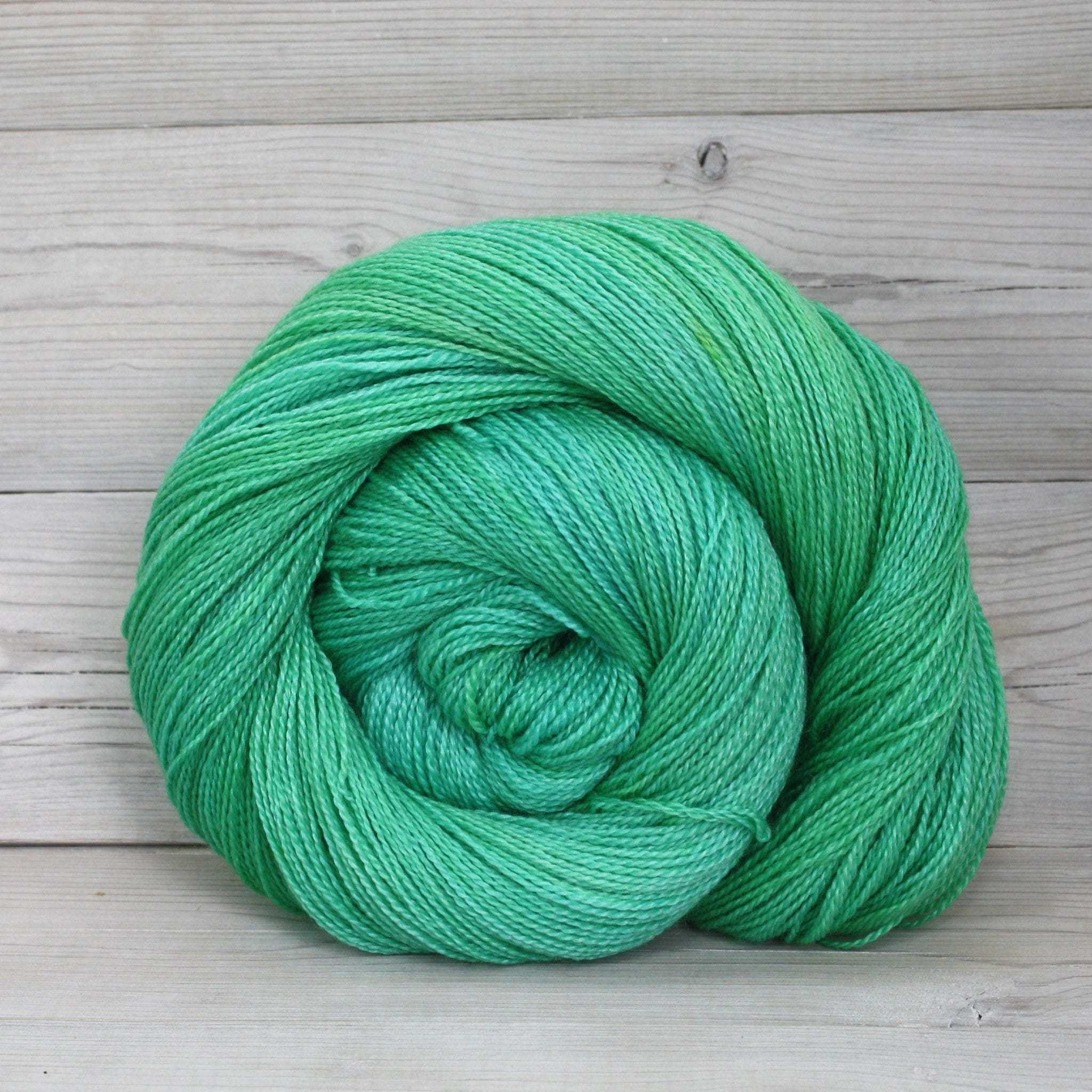 Luna Grey Fiber Arts Starbright Yarn | Colorway: Spearmint