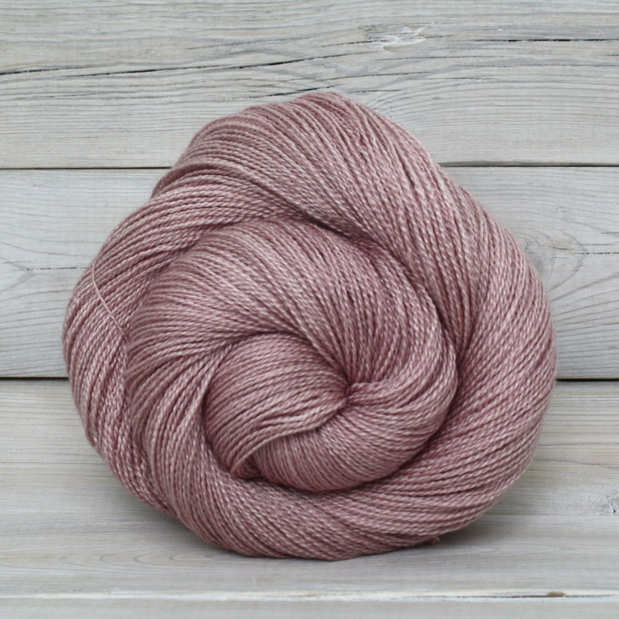 Luna Grey Fiber Arts Starbright Yarn | Colorway: Tea Rose