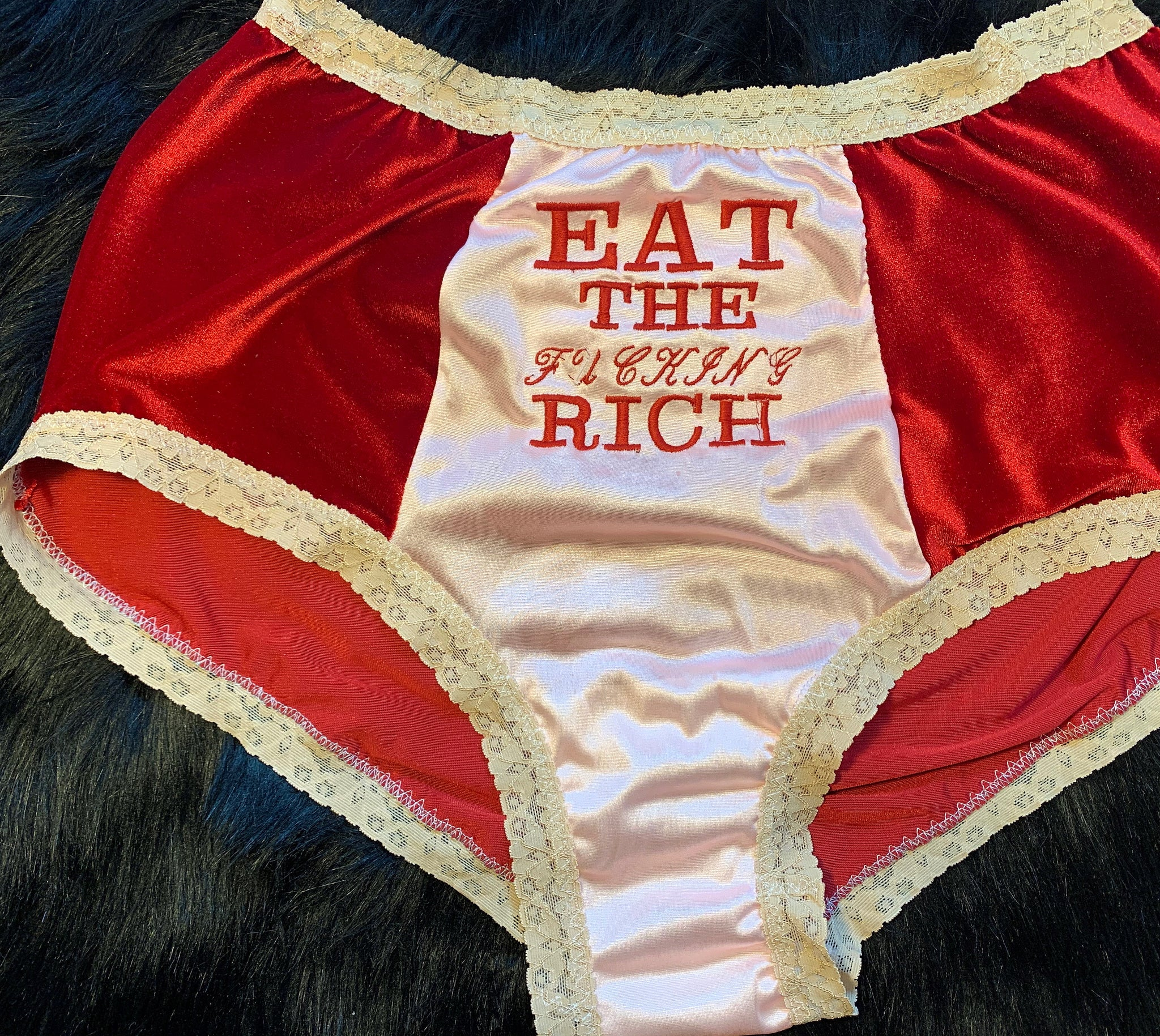 EAT THE FUCKING RICH•High Waisted