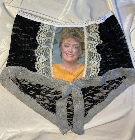 BLANCHE DEVEREAUX crotchless black lace high waisted