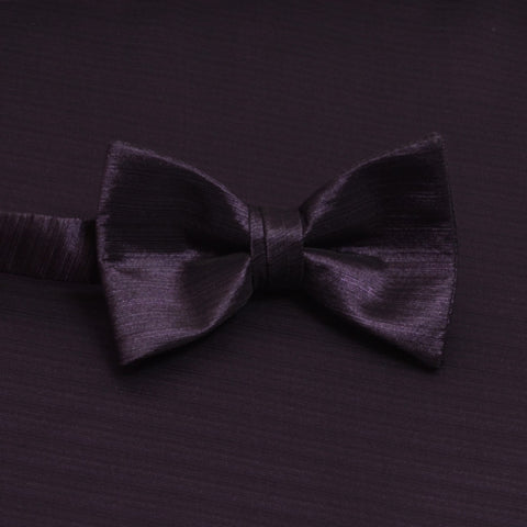 Amethyst Horizontal Bow Tie with Matching Pocket Square