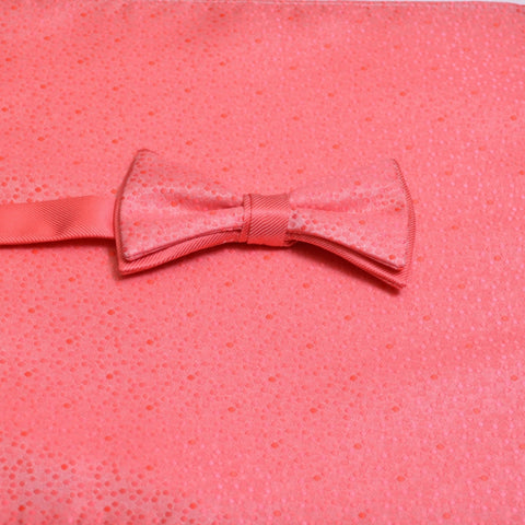 Coral Reef Mosaic Bow Tie with Matching Pocket Square