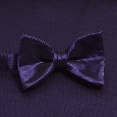 Grape Horizontal Bow Tie with Matching Pocket Square