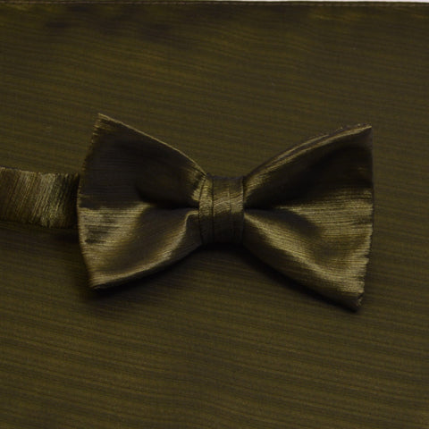 Moss Horizontal Bow Tie with Matching Pocket Square