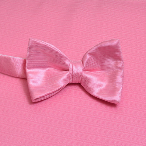 Rose Horizontal Bow Tie with Matching Pocket Square