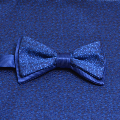 Royal Blue Mosaic Bow Tie and Pocket Square