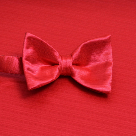 Strawberry Horizontal Bow Tie with Matching Pocket Square