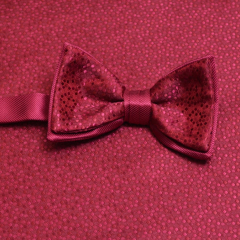 Apple Red Mosaic Bow Tie and Pocket Square