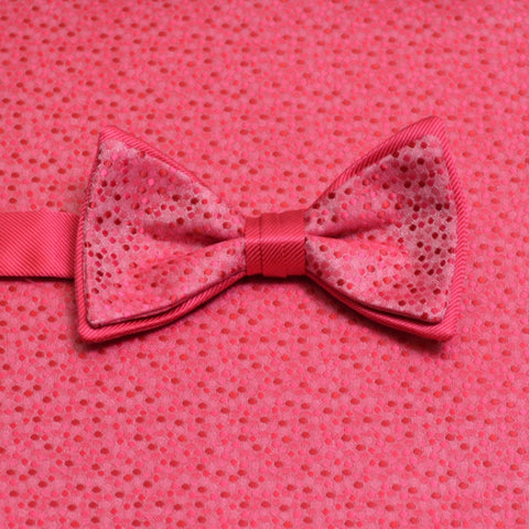 Guava Mosaic Bow Tie and Pocket Square