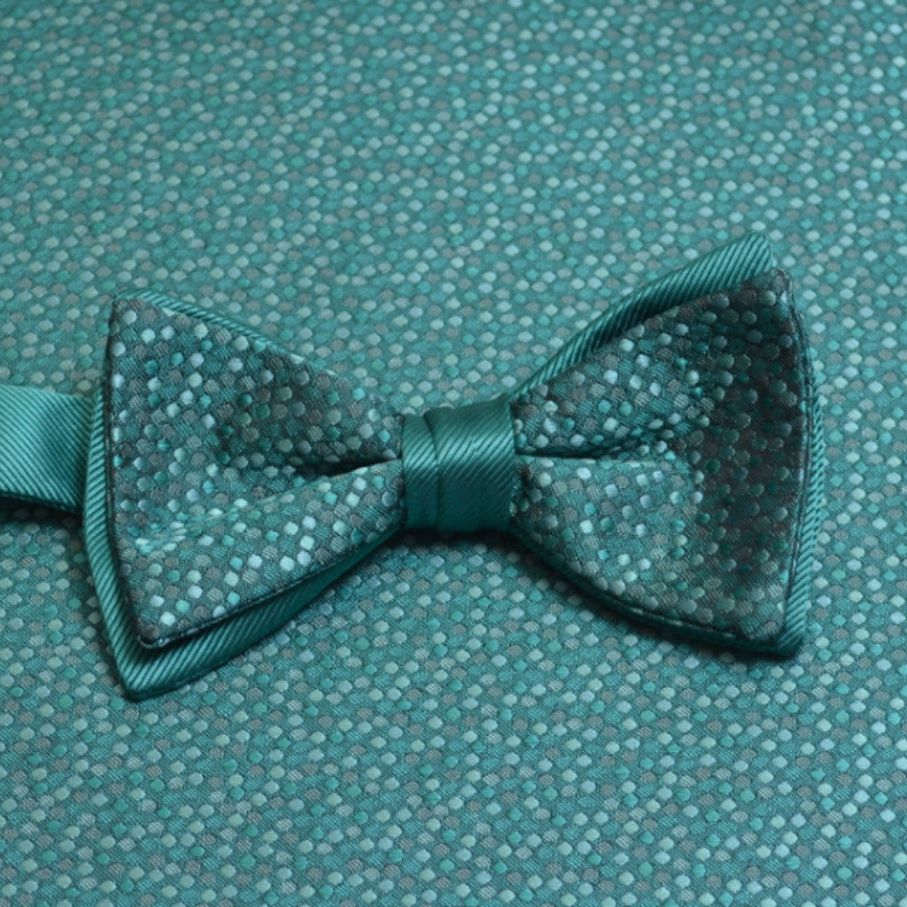 Jade Mosaic Bow Tie and Pocket Square