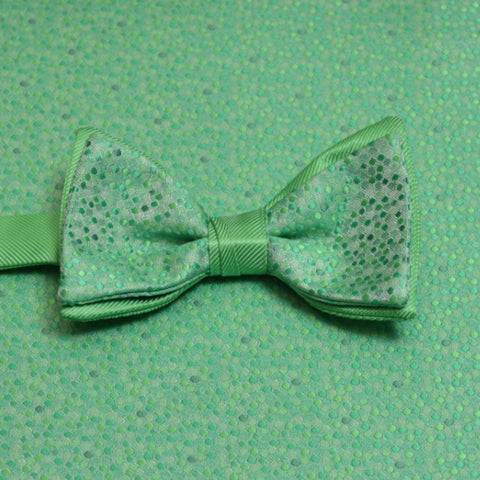 Kelly Green Mosaic Bow Tie and Pocket Square