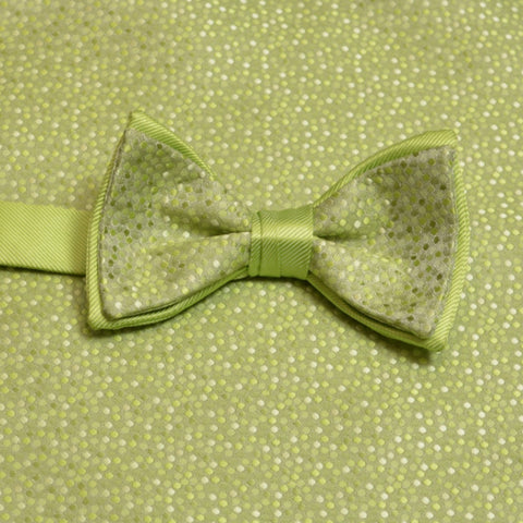 Kiwi Mosaic Bow Tie and Matching Pocket Square