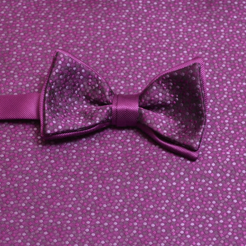 Persian Plum Mosaic Bow Tie and Pocket Square