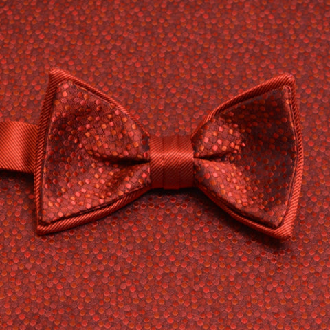 Persimmon Mosaic Bow Tie and Pocket Square