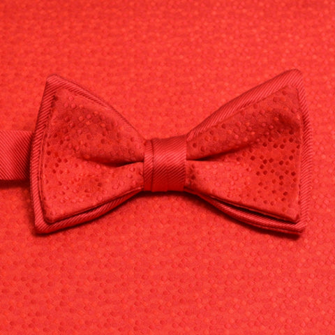 Ruby Mosaic Bow Tie and Pocket Square