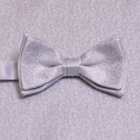 Silver Mosaic Bow Tie and Pocket Square