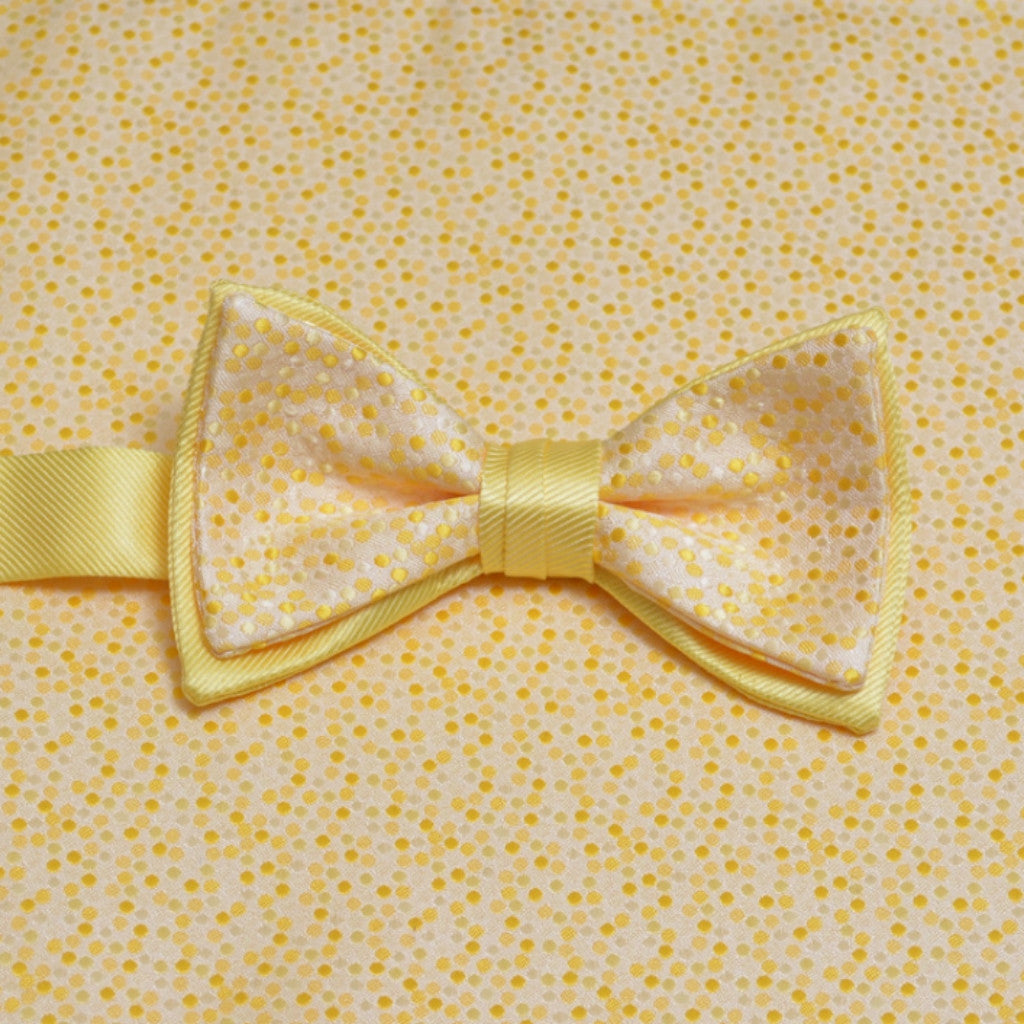 Sunbeam Mosaic Bow Tie and Pocket Square