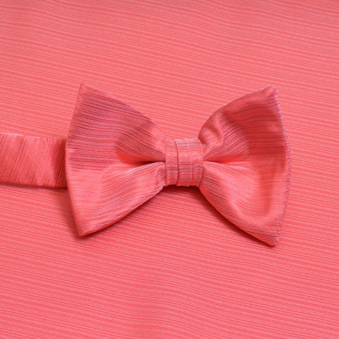 Guava Horizontal Bow Tie with Matching Pocket Square