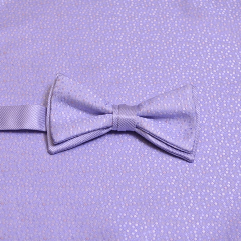 Lilac Mosaic Bow Tie and Matching Pocket Square